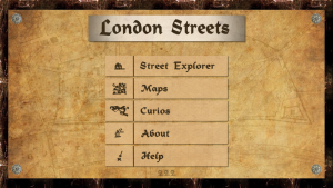 London Streets main menu