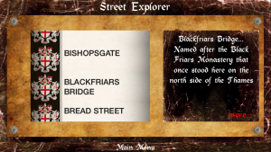 London Streets - street explorer