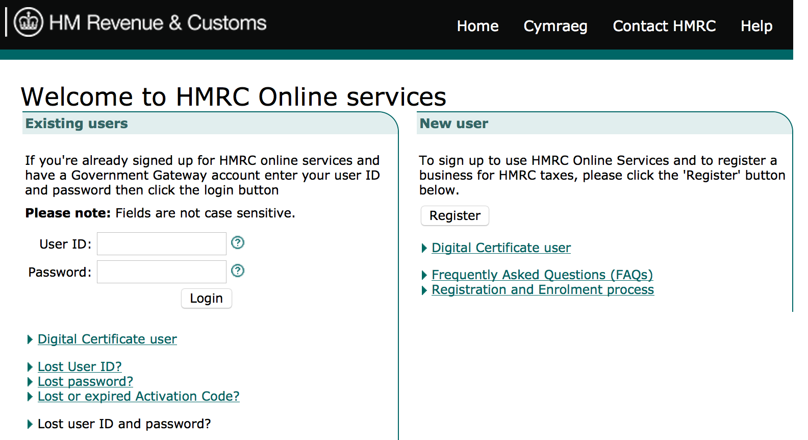 Hmrc login self for Online architect services